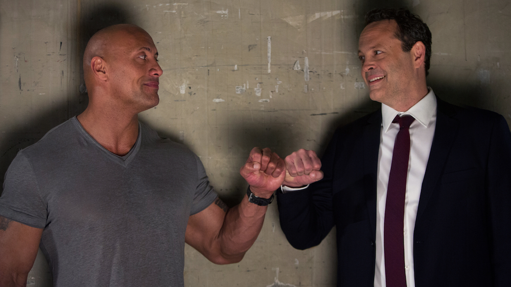 WWE star The Rock and Vince Vaughn