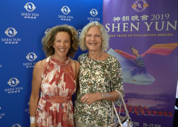 Finance and retail professional Mary Russell (L) saw Shen Yun at Perth's Regal Theatre, Western Australia, on Feb. 22, 2019. (Victor Bernal/NTD Television)
