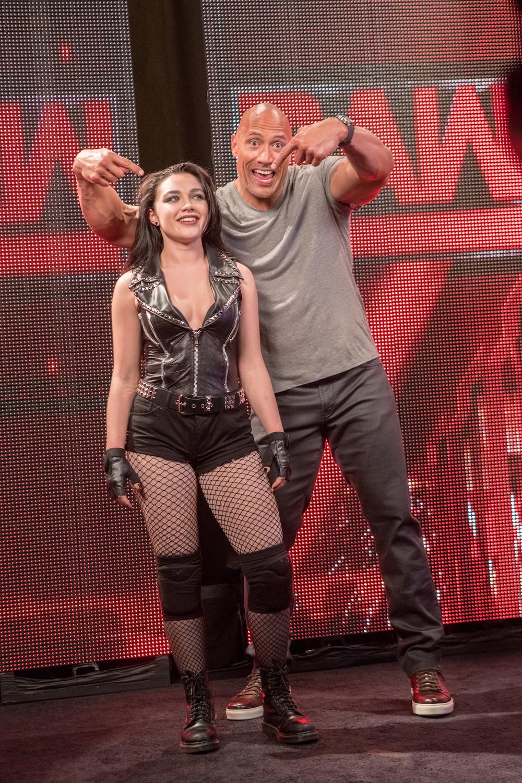 WWE star Dwaye John and actress Florence Pugh