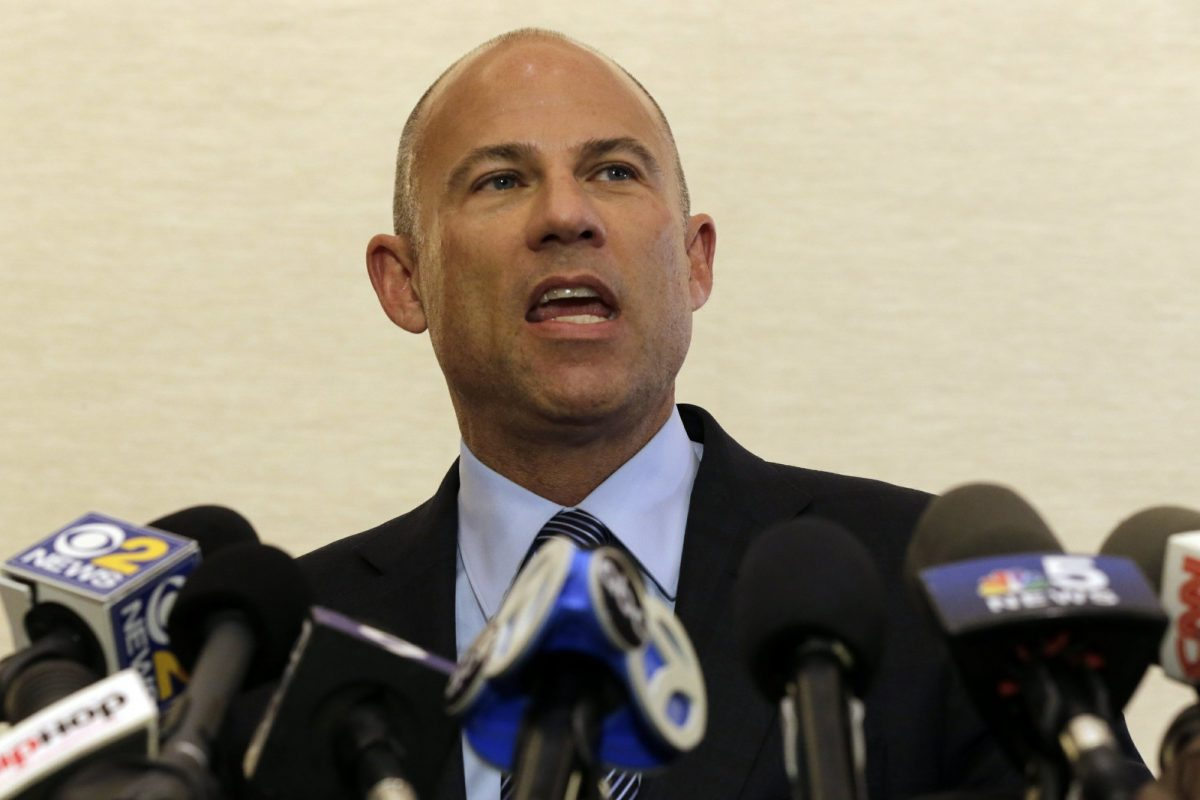 Attorney Michael Avenatti speaks at a news conference