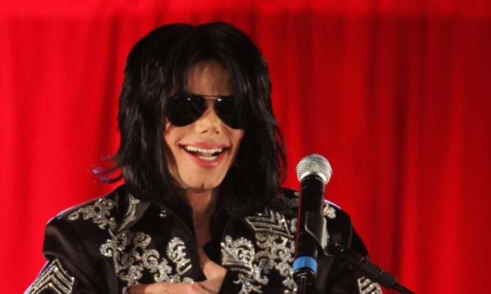 Michael Jackson announces plans for Summer residency at the O2 Arena at a press conference held at the O2 Arena on March 5, 2009, in London. (Whitby/Getty Images)