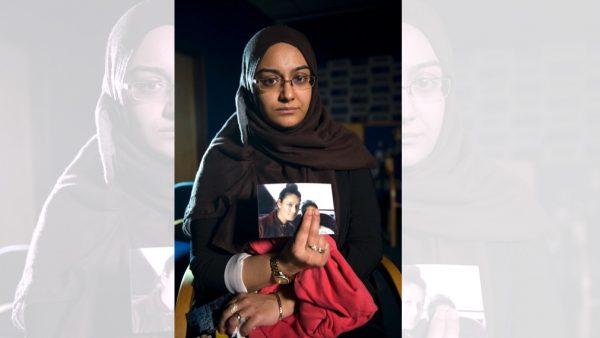 Shamima Begum's sister hold photo