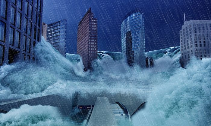 Artist's graphic rendition of a mega-flooding (Representative image/Pixabay)