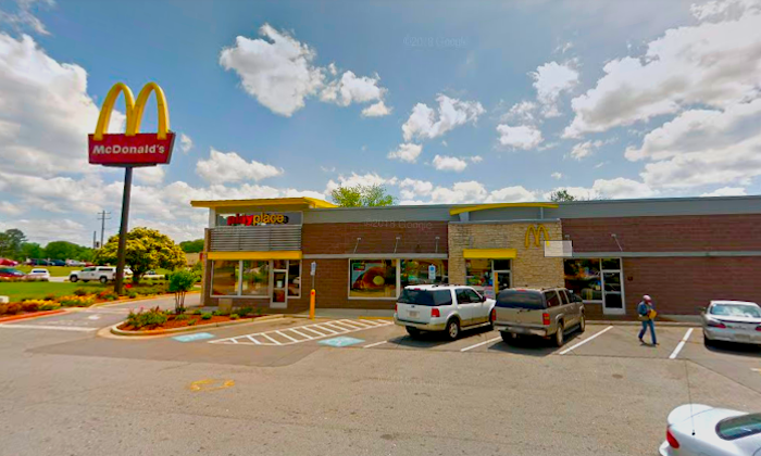 A woman, Ana Luisa Guity-Baltazar, was arrested for disorderly conduct at McDonald's at 4112 Highway 278 in Covington, Ga., on Feb. 17, 2019. (Google Maps/Screenshot)