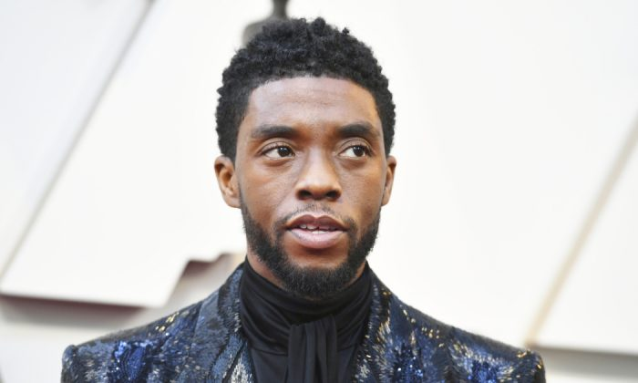 Chadwick Boseman arrives at the Oscars on Sunday, Feb. 24, 2019, at the Dolby Theatre in Los Angeles. (Jordan Strauss/Invision/AP)