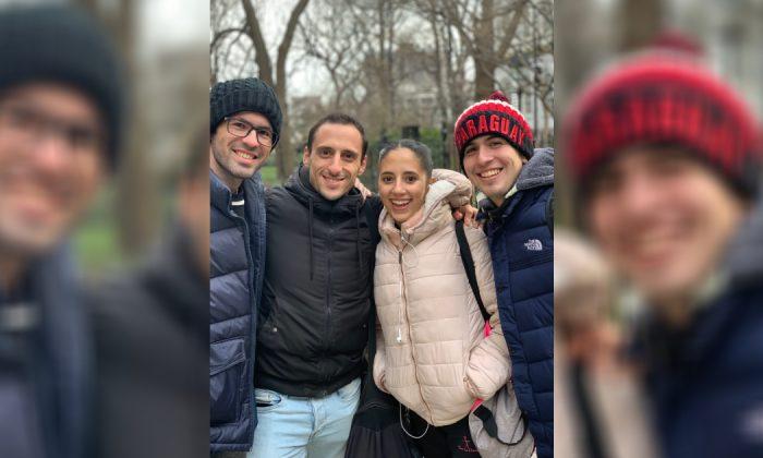 Fernando Rodriguez (2nd L) in New York on Feb 22, 2019. (Stuart Liess/The Epoch Times)