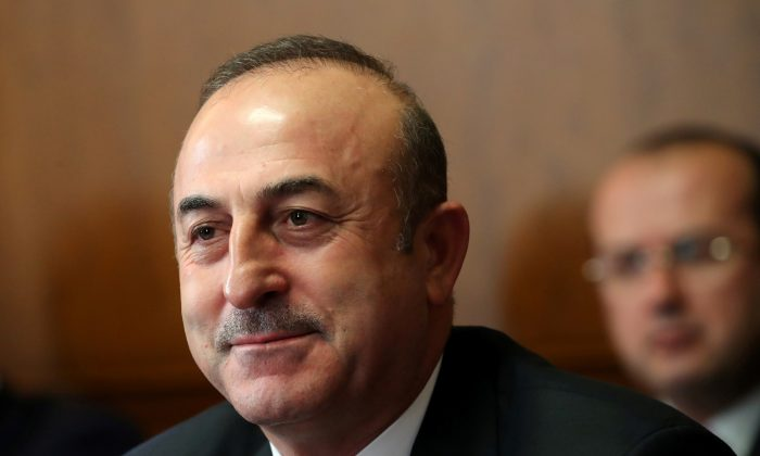 Turkish Foreign Minister Mevlut Cavusoglu attends a meeting on forming a constitutional committee in Syria at the United Nations in Geneva, Switzerland on Dec. 18, 2018. (Denis Balibouse/Reuters)