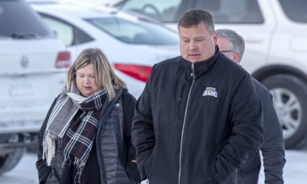 Scott Thomas, whose son Evan was killed in the crash, arrives for the sentencing hearing of Jaskirat Singh Sidhu