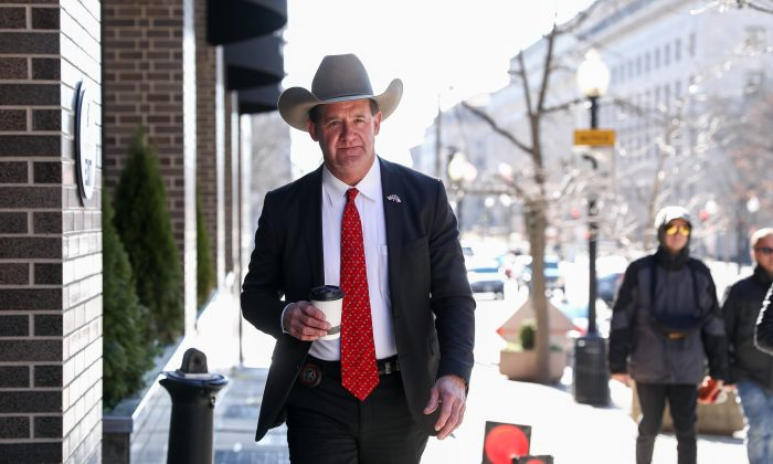 Sheriff Andy Louderback, Jackson County, Texas, in Washington on Jan. 11, 2019. (Samira Bouaou/The Epoch Times)