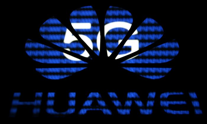 The Huawei logo in a photo illustration taken on Feb. 12, 2019. (Dado Ruvic/File Photo/Reuters)