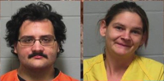 Christopher Logan (L) and Megan Logan have been arrested and face charges that include child abuse, in Ponca City, Okla. (Ponca City Police Department)