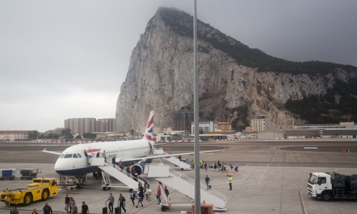 A British Airways flight from London arrives in Gibraltar,  on Sept. 11, 2018. (Matt Cardy/Getty Images)