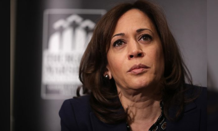 Presidential candidate Sen. Kamala Harris (D-Calif.) at the Thurgood Marshall College Fund event at the JW Marriott in Washington, DC on Feb. 07, 2019.