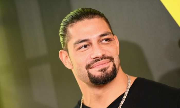 Wrestler Roman Reigns at the Nickelodeon Kids' Choice Sports 2018 at Barker Hangar in Santa Monica, Calif., on July 19, 2018. (Emma McIntyre/Getty Images)