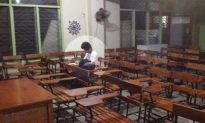 Student Found Studying in Class After Typhoon Closes School: 'He Didn't Have Electricity'