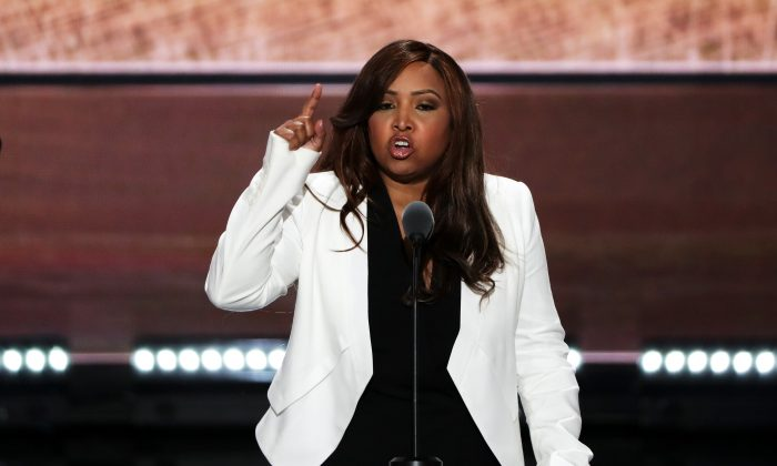 Lynne Patton, Vice President of the Eric Trump Foundation, delivers a speech on the third day of the Republican National Convention at the Quicken Loans Arena in Cleveland, Ohio on July 20, 2016. (Alex Wong/Getty Images)