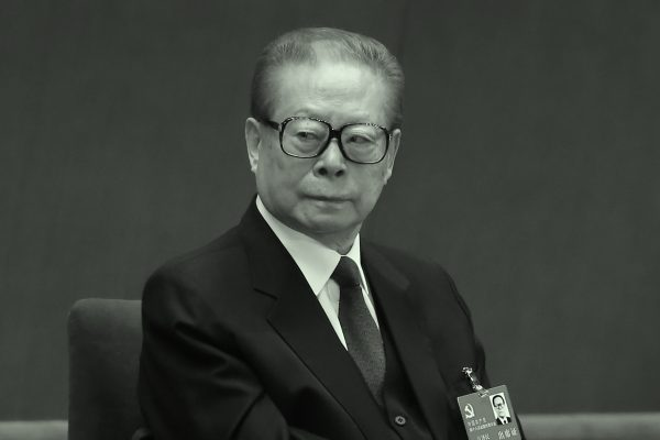 Former Chinese dictator Jiang Zemin at the Great Hall of the People in Beijing, China on Nov. 8, 2012. (Feng Li/Getty Images)