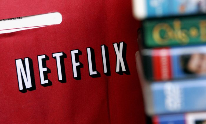 A Netflix return mailer is pictured in Miami, Fla., on Jan. 16 2007. (Robert Sullivan/AFP/Getty Images)