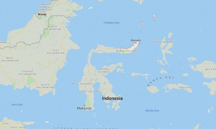 Location of North Sulawesi, Indonesia. (Screenshot/Google maps)