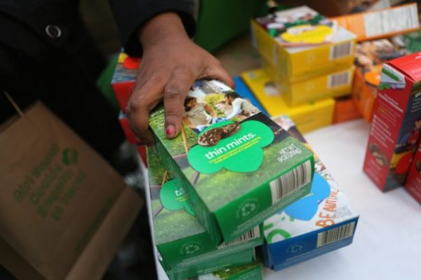 Girl Scouts sell cookies in this 2013 file photo