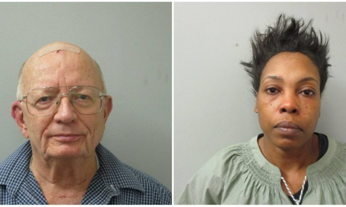 John Chapman and Chequita Jenkins were arrested after they allegedly fought at a restaurant in Alabama over crab legs. (Huntsville Police Department)