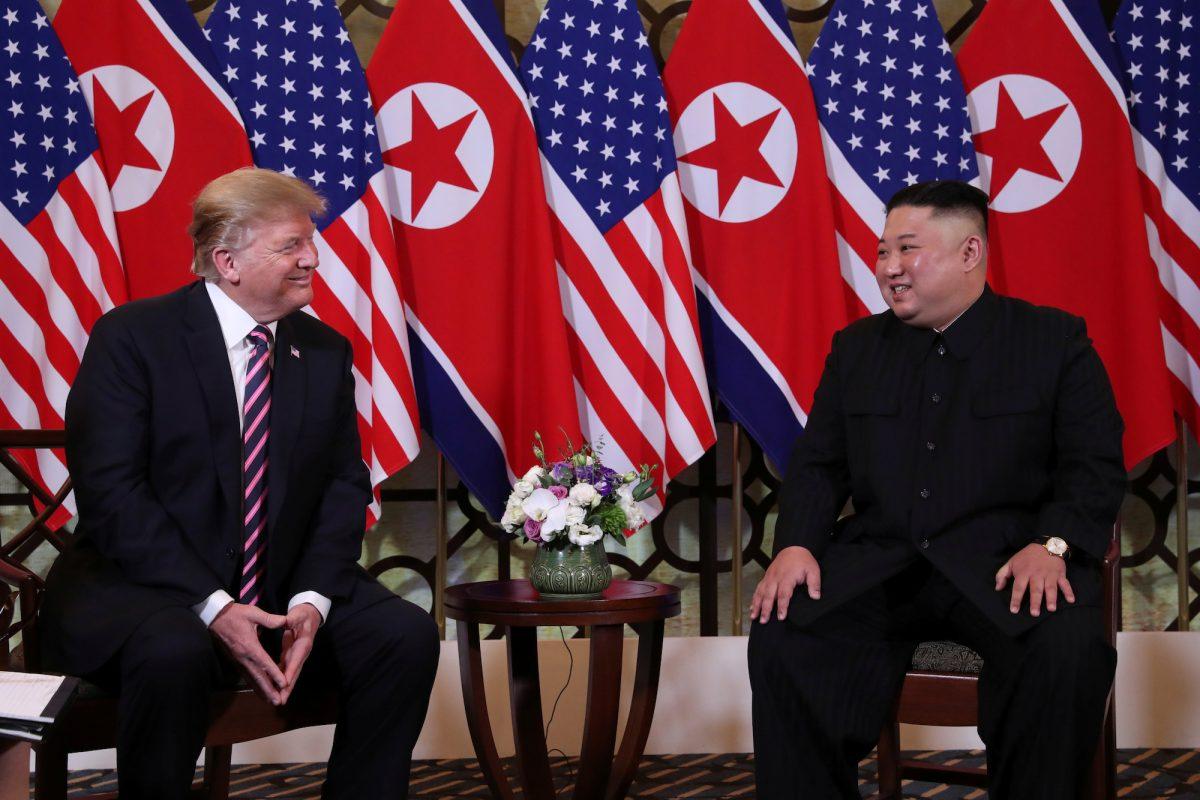 U.S. President Donald Trump meets with North Korean leader Kim Jong Un in Hanoi