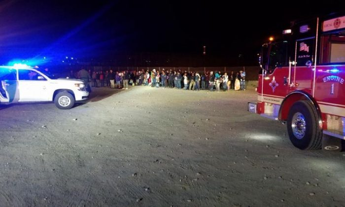 Nearly 200 illegal aliens were apprehended at the southern border in New Mexico on Feb. 26, 2019. (CPB)