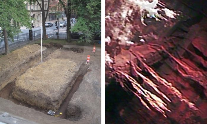 A mysterious chamber was found last summer by crews and archeologists revitalizing parts of the legislative grounds in Halifax, Nova Scotia, Canada. (Province of Nova Scotia)