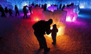 Ice Castles Turn Farmland Into Winter Wonderland