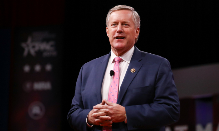 Rep. Mark Meadows (R-N.C.) at the CPAC convention in Washington on Feb. 28, 2019. (Charlotte Cuthbertson/The Epoch Times)