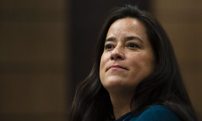 Jody Wilson-Raybould appears at the House of Commons Justice Committee on Parliament Hill in Ottawa on Feb. 27, 2019. (The Canadian Press/Sean Kilpatrick)