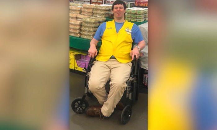 North Carolina Walmart greeter Jay Melton  has accepted a new position following a public outcry to save his job.(Screenshot/CNN)