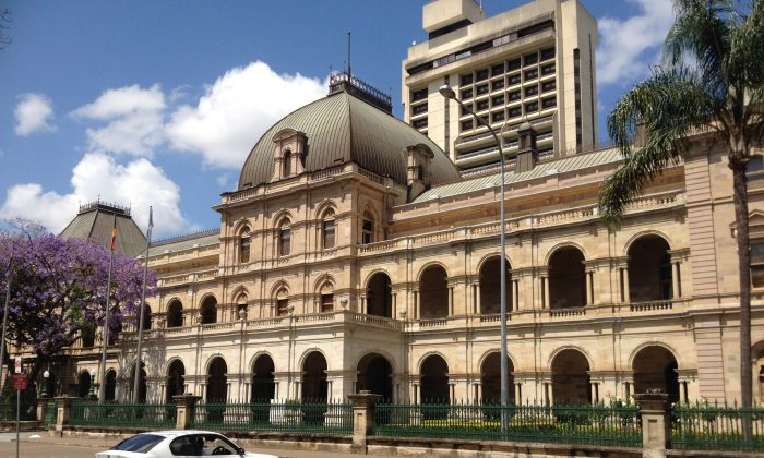 Queensland Parliament House in downtown Brisbane, Australia, on Oct. 19, 2013. (Wikimedia Commons CC)