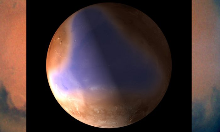An image of a ancient northern ocean on Mars released by the European Space Agency in 2012. A new research study details the first direct geological evidence for a 'planet-wide groundwater system' explaining Mars's watery history. (C. Carreau/ESA)