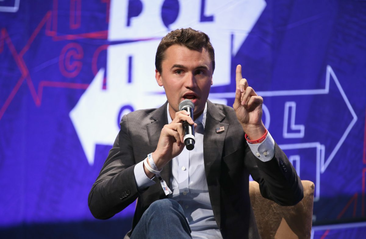 Charlie Kirk speaks onstage during Politicon 2018 at Los Angeles Convention Center in Los Angeles