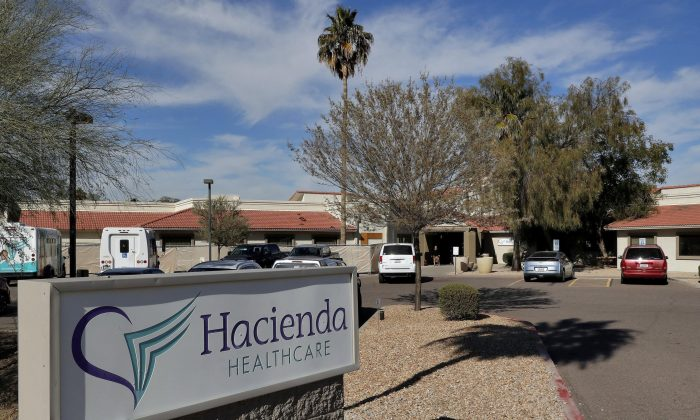 Hacienda HealthCare facility in Phoenix, Ariz. (AP Photo/Matt York, file)