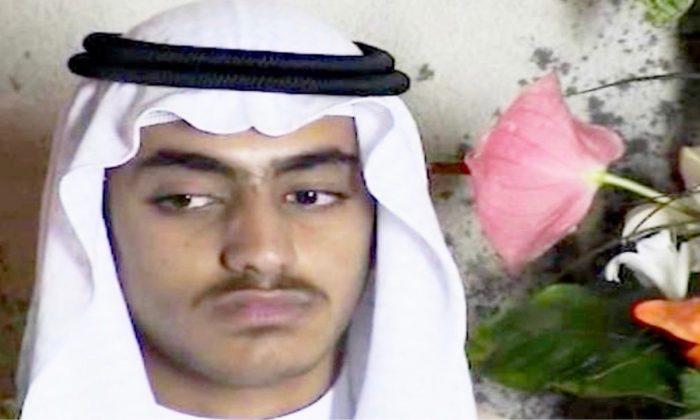 Osama bin Laden's son and emerging terrorist leader Hamza bin Laden. (Screenshot/Video via CNN)