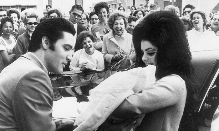 Elvis and Priscilla Presley with their daughter, Lisa Marie. (Getty Images | Keystone)