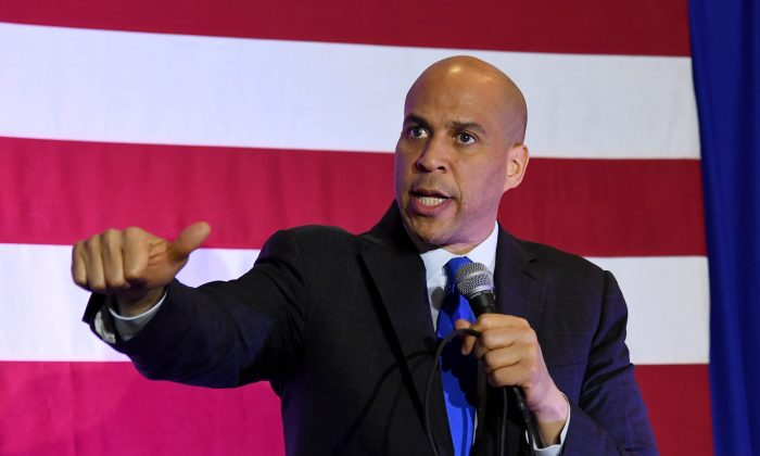 Sen. Cory Booker (D-N.J.) campaigns at the Nevada Partners Event Center in North Las Vegas, Nevada, on Feb. 24, 2019. (Ethan Miller/Getty Images)