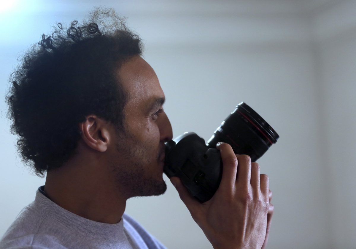 Egypt Photojournalist Mahmoud Abu Zaid with camera