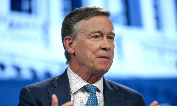 Colorado Gov. John Hickenlooper speaks onstage during the Concordia Annual Summit at Grand Hyatt New York in New York City on Sept. 24, 2018.   Riccardo avi/Getty Images for Concordia Summit)