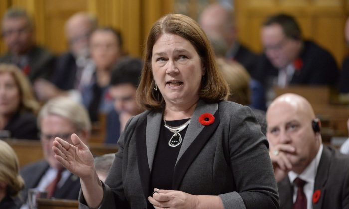 Jane Philpott during question period in the House of Commons on Nov. 2, 2016. Philpott resigned from Trudeau's cabinet on March 4, 2019. (Adrian Wyld/The Canadian Press)