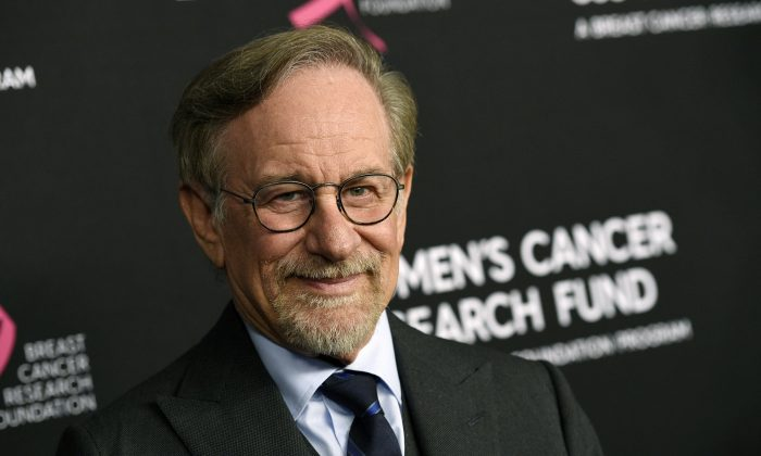 """Steven Spielberg poses at the 2019 """"An Unforgettable Evening""""  Feb. 28, 2019. (Chris Pizzello/Invision/AP, File)"""