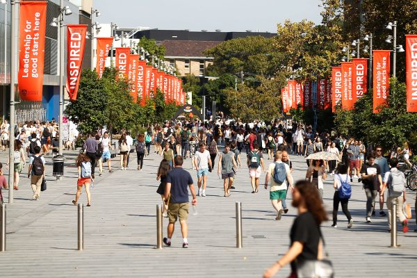 Students walk around Sydney University's campus in Australia, on April 6, 2016. (Brendon Thorne/Getty Images)