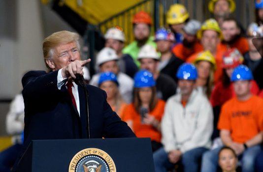 President Donald Trump in Richfield, Ohio