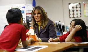 FLOTUS Melania Travels To Tulsa And Seattle For Be Best Campaign