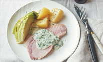 Traditional Irish Bacon With Cabbage and Parsley Sauce