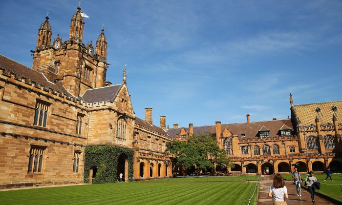 Students walk across Sydney University's campus in Australia, on April 6, 2016. (Brendon Thorne/Getty Images)