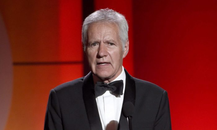 In this April 30, 2017, file photo, Alex Trebek speaks at the 44th annual Daytime Emmy Awards at the Pasadena Civic Center in Pasadena, Calif. Trebek has been diagnosed with stage 4 pancreatic cancer. (Chris Pizzello/The Canadian Press/AP/Invision)
