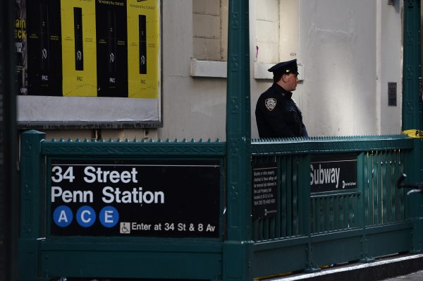 police officer at subway station